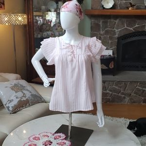 GAP cute pink striped smock top size medium